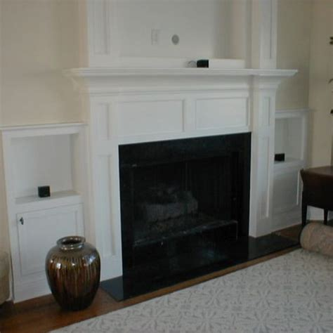 Built In Fireplace Screens by Custom Made Built In Fireplace Mantle For Flat Screen Tv Side Cabinets By Norm S Custom