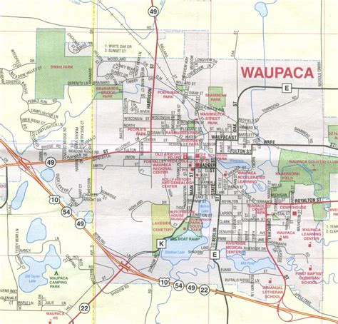 House Gift waupaca historical society map of waupaca
