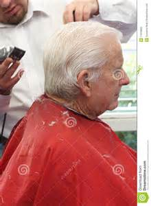 which day senior citizen haircut at cuts grandpa gets a haircut royalty free stock images image