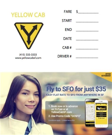 Luxor Cab Receipt Template by Yellow Cab Of San Francisco More Taxis Means We Ll Get