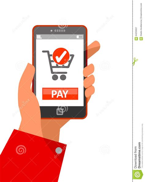 Go Shopping Pay With Your Cell Phone by Mobile Payment Concept Stock Photo Image 64233007