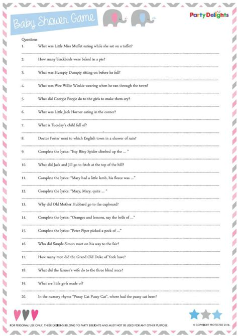printable quizzes uk free printable nursery rhyme quiz party delights blog