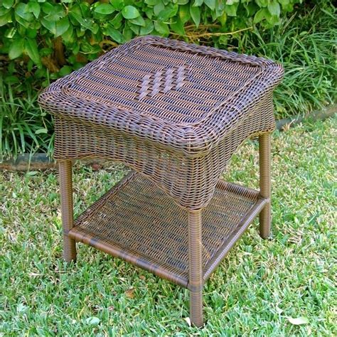 Resin Wicker Patio Table Resin Wicker Steel 2 Tier Patio Side Table 3188 Xx