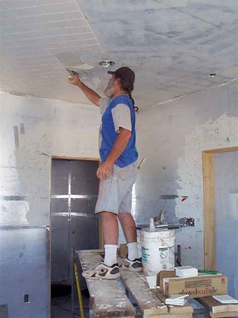 ceiling tiles installation images