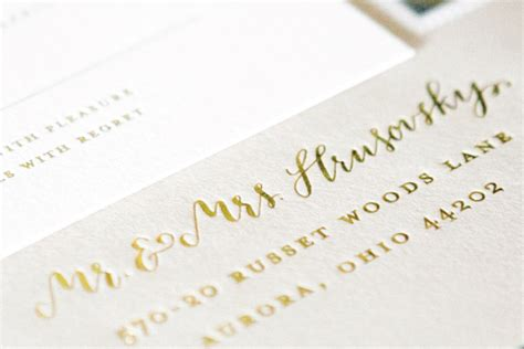 Wedding Gold Fonts by Carley S Gold Foil And Calligraphy Wedding Invitations