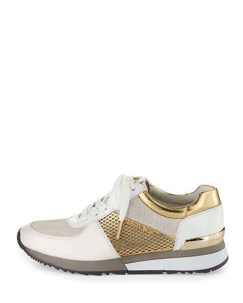 michael kors sneakers for michael michael kors mixed media trainer sneaker in