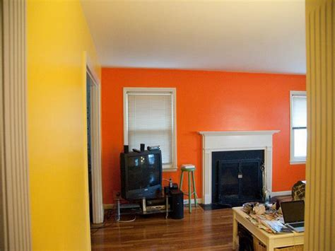 bloombety yellow orange wall paint colors ideas an