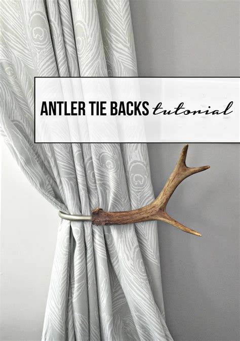 antler curtain tie backs tutorial how to make antler curtain tie backs curtain