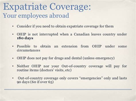 Employment Letter Ohip effective benefit plan administration