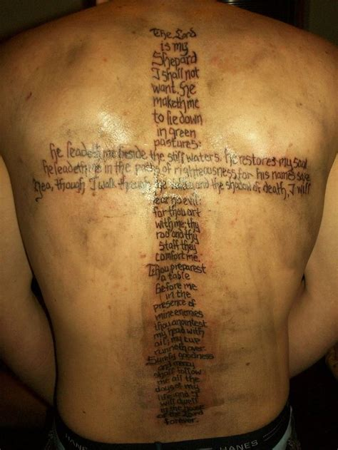 psalms tattoos psalm 23 designs