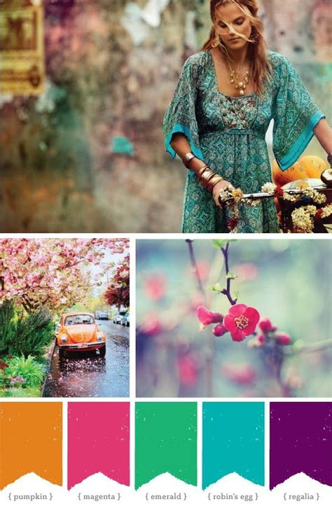 Bohemian Color Scheme | bohemian color scheme hippie and hot 25th pinterest