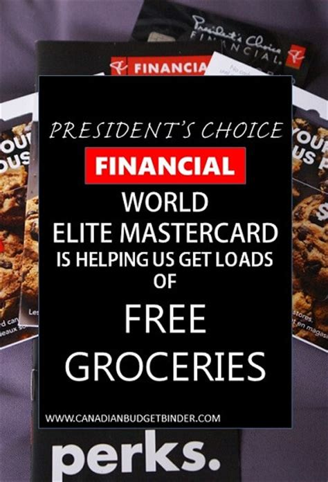 presidents choice world elite mastercard  helping
