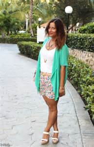 Floral shorts outfit 2015 2016 fashion trends 2016 2017