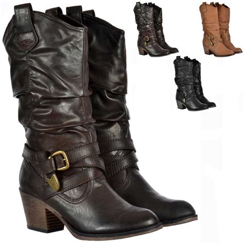 womens rocket sidestep rider cowboy western brown