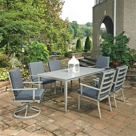 south 7 dining set home styles south grey 7 rectangular extruded