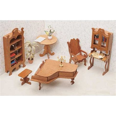Miniature Furniture Kits Unfinished Library Furniture Dollhouse Furniture