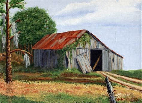 country paintings nancarts original painting of country barn