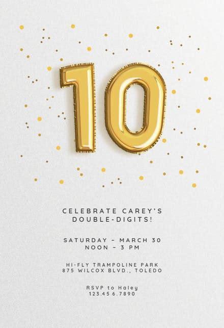 printable milestone birthday invitations  kids