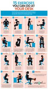Desk Excercises by 15 Exercises You Can Do At Desk In Office Useowl