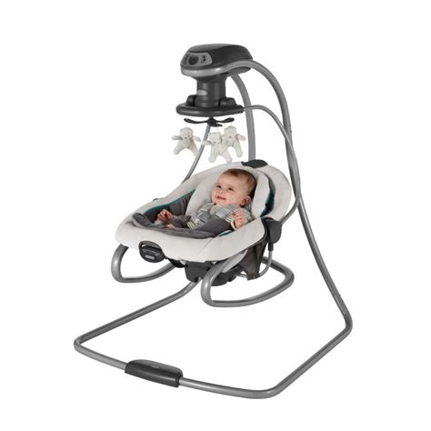 graco side swing com graco duetsoothe swing plus rocker sapphire