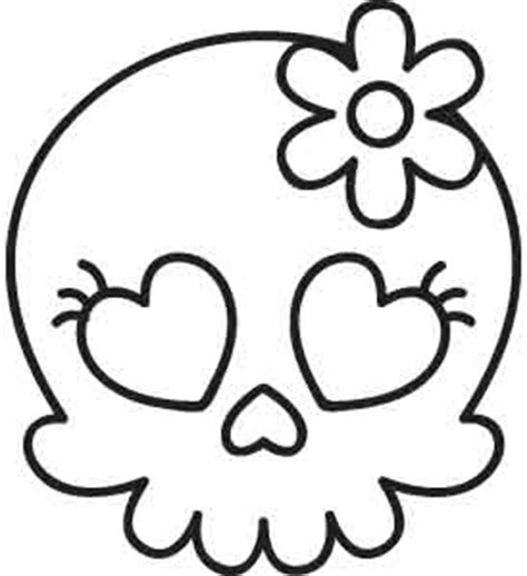 cute skull coloring page sweetie skull urban threads unique and awesome
