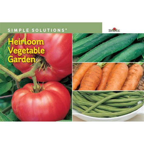 burpee simple solutions heirloom vegetable garden seed