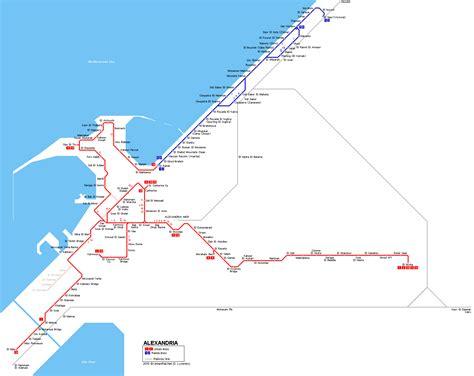 alexandria map urbanrail net gt africa gt gt alexandria tramway