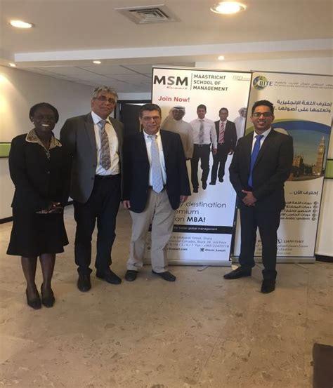 Mba In Kuwait Maastricht by Msm Kuwait Maastricht School Of Management Kuwait City