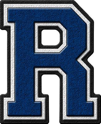 Home Blue by Presentation Alphabets Royal Blue Varsity Letter R