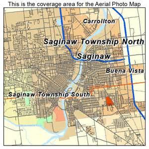 aerial photography map of saginaw mi michigan