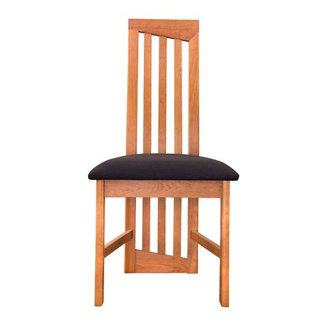 modern high back dining chairs cherry handmade