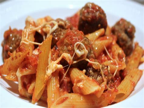 Has Anyone Survived The Electric Chair by Penne Al Forno Con Le Polpettine Meatballs