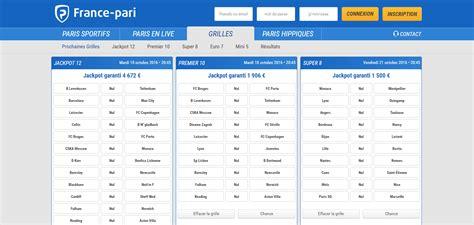 Tarif Grille Loto Foot by Liste Parionssport Fdj 1n2 Loto Foot 7 15 Cote Et