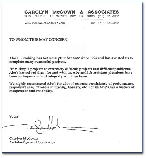 Recommendation Letter With Exles Exle Of Letter Of Recommendation New Calendar Template Site