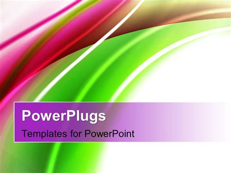 Powerpoint Template Abstract Shiny Green And Magenta Powerplugs Powerpoint Templates