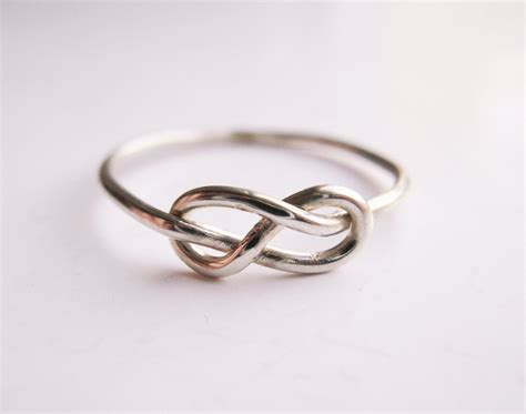 infinity knot ring sterling silver wire wrap by liuroksilver