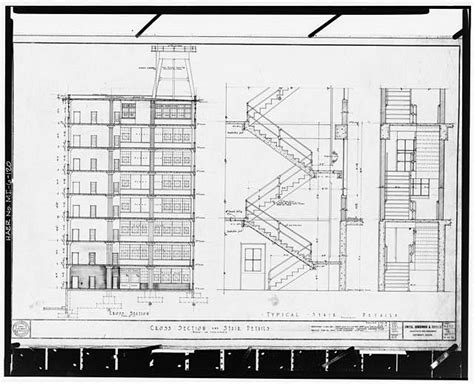 construction section drawing chrysler building section drawing