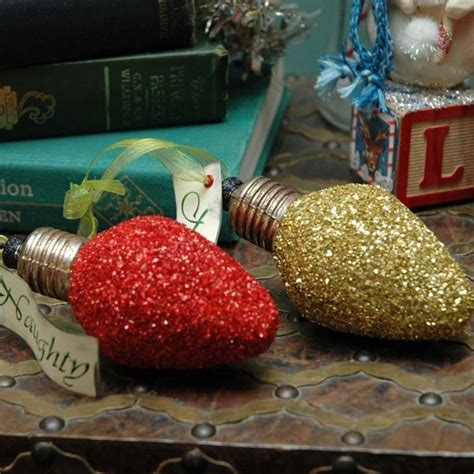 found on etsy mini version glass glitter christmas