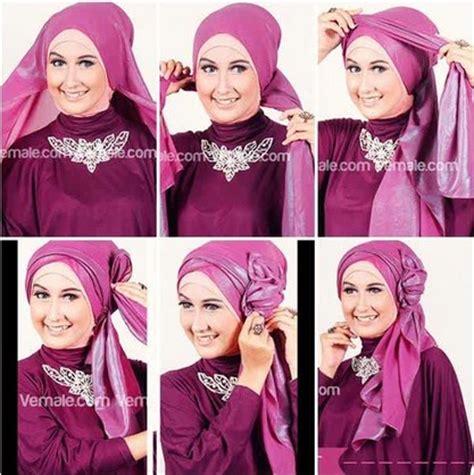 tutorial hijab pengantin pashmina kumpulan tutorial hijab pashmina pesta simple