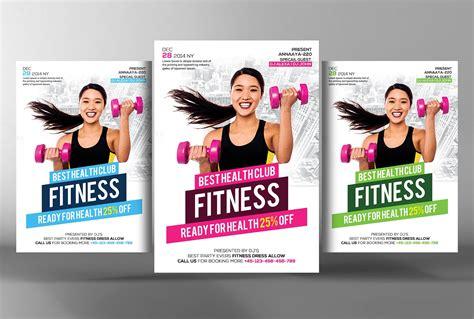 fitness flyer fitness flyer flyer templates on creative market