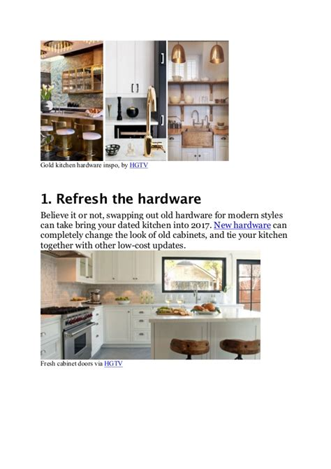 How To Give Your Kitchen Cabinets A Facelift Give Your Kitchen A Low Budget Facelift With These 4 Tricks