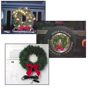 jeep wreath know where 2jeep j0118 12 volt lighted christmas wreath