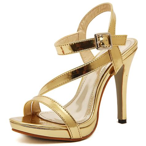 cheap gold high heel shoes cheap fashion stiletto high heel gold pu ankle