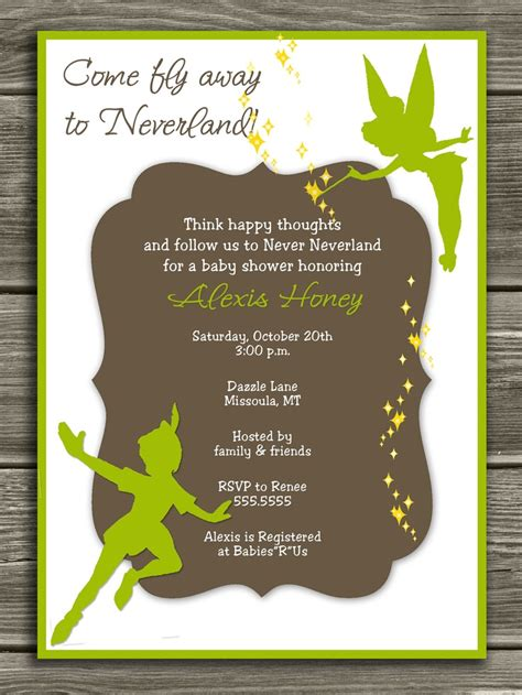 Pan Baby Shower Invitations by Pin By Lindley On Pan Birthday