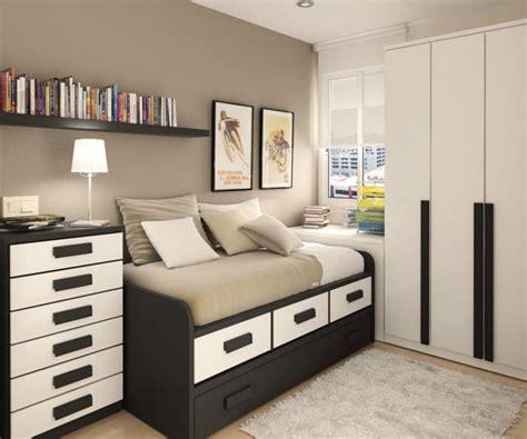 Teenager boys bedroom ideas with black beige finish wooden single
