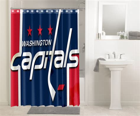 washington capitals shower curtain washington capitals nhl hockey 267 shower curtain