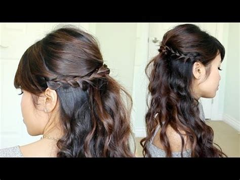 evening hairstyles youtube prom hairstyle braided half updo feat nume reverse