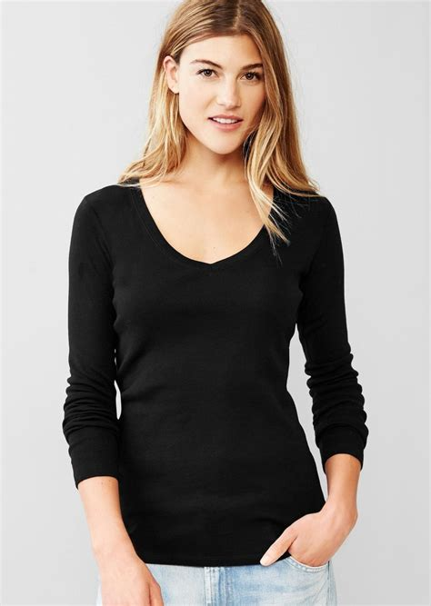 Gap Longsleeve by Gap Favorite Sleeve V Neck Tees