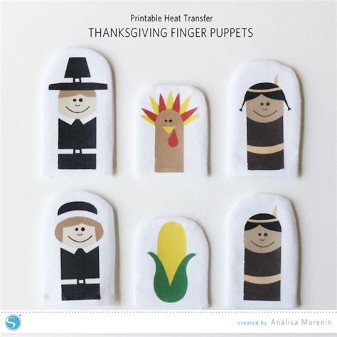 Thanksgiving Finger Puppets Parental Perspective Thanksgiving Finger Puppet Templates