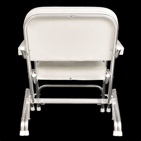 Boat Deck Chairs by Custom White Boat Folding Deck Chair Seat 75001w Ebay